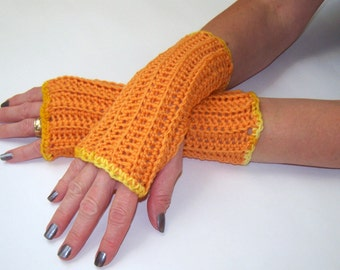 Fingerless Gloves- Arm Gloves- Fingerless Mittens- Wrist Warmers- Wool and Acrylic