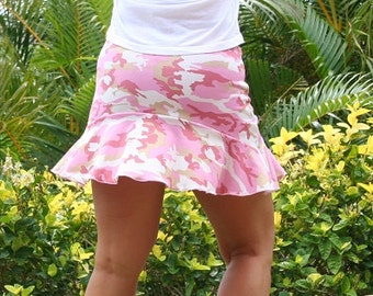 Salmon Camouflage Running Skirt