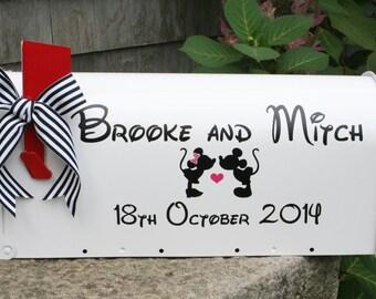 Mickey Minnie - Disney - Wedding Mailbox- Custom Card Box - Standard USPS size - Personalized