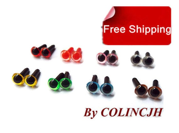 Craft Safety Eyes Amigurumi : 7.5mm 7Pairs mixcolor Colored Safety Eyes / Plastic by ...
