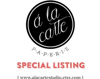 Special listing for Jeanette & Juan