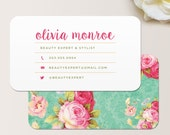 Vintage Floral Business Card / Calling Card / Mommy Card / Contact Card - Interior Designer, Event Planner, Calling Cards, Business Cards