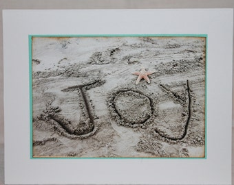 photo card, beach photograph, JOY
