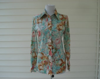 Dreamy floral blouse by Lady Manhattan