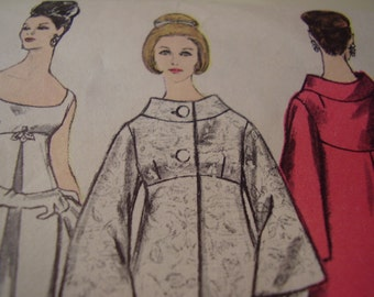 Vintage 1960's Vogue 6084 Dress and Coat Sewing Pattern, Size 10, Bust 31 or Size 14, Bust 34 available