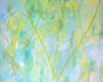 "Modern Art Print-- Archival Print of Original Painting-- ""Blossom in a Lemon Grove 3"""