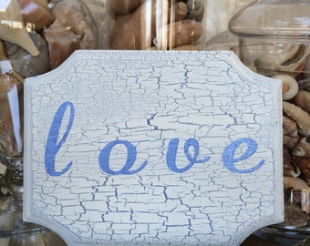 Vintage inspired LOVE sign/shabby chic/love decor