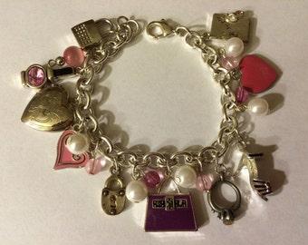 A Girl's Valentine Wish OOAK Charm Bracelet by Kay Creatives