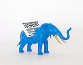 Custom Color Elephant Toy Business Card Holder // Any Color--Your Choice // Unique Gift Idea (Size B)