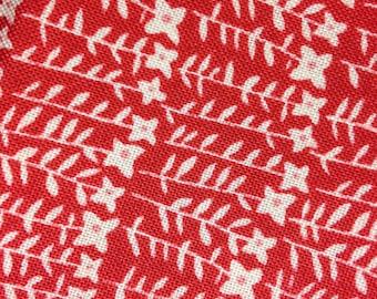 Organic Petit Fleur- FAT QUARTER cut of Flower Stalks - in Red by Carolyn Gavin - Organic Cotton - 39526