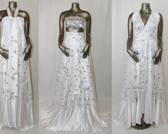 White Convertible Dress/Skirt for Bridal or Special Occasion
