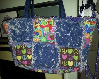 Jean & Hippie Rag Bag Purse
