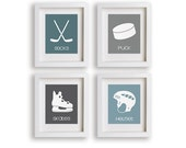 Hockey Nursery Decor, Baby Boy, Boy's Room, Nursery Art, Children, Kids Art, Playroom, Hockey, Kids Art, Educational, Sports Decor, Toddler