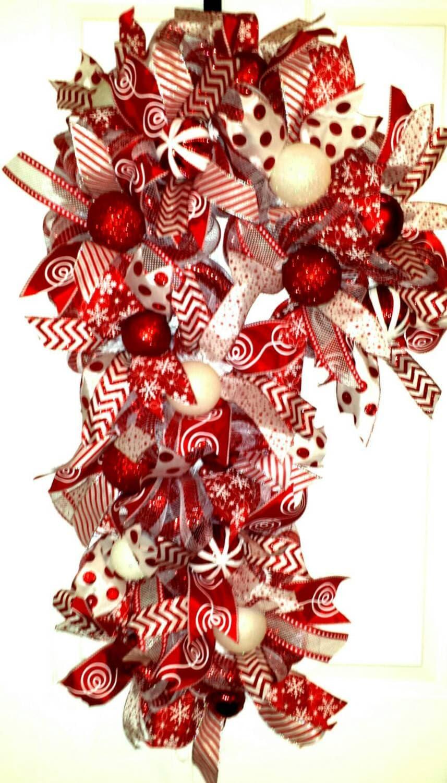 Candy Cane Candy Cane Wreath Candy Cane Door Wreath