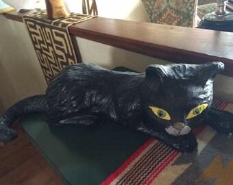 Sale - Wonderful Vintage Paper Mâché Black Cat