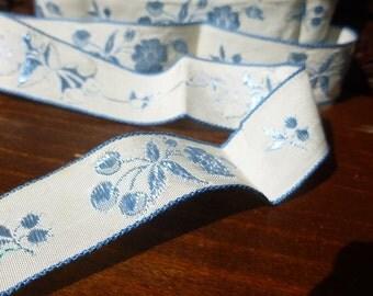 Lace Blowout Sale Satin Silk 1950 Blue Rose Ribbon