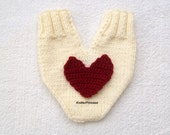 Valentines day gloves, couples glove, Lovers mitten for him and her, couples mitten, with a big red heart, anniversary gift, engagement gift
