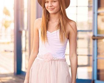 SALE/// Junior Bridesmaid Dress--Girls Dress--Flower Girl Dress-  Pastel Wedding Shabby Chic