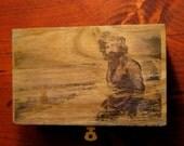 JERRY GARCIA Original Art Wood Jewelry, Stash BOX
