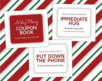 34 Unique Christmas Coupons for Kids, Printable PDF