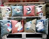 """Animals in Attire Portraits Cushion Pillow Hunt 18""""x18"""" 45x45cm Bye Brytshi"""