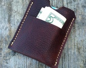 Card wallet, Minimalist wallet, Mens wallet, Handmade from full grain American leather