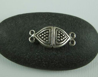 2 Strand Sterling Silver Magnetic Clasp