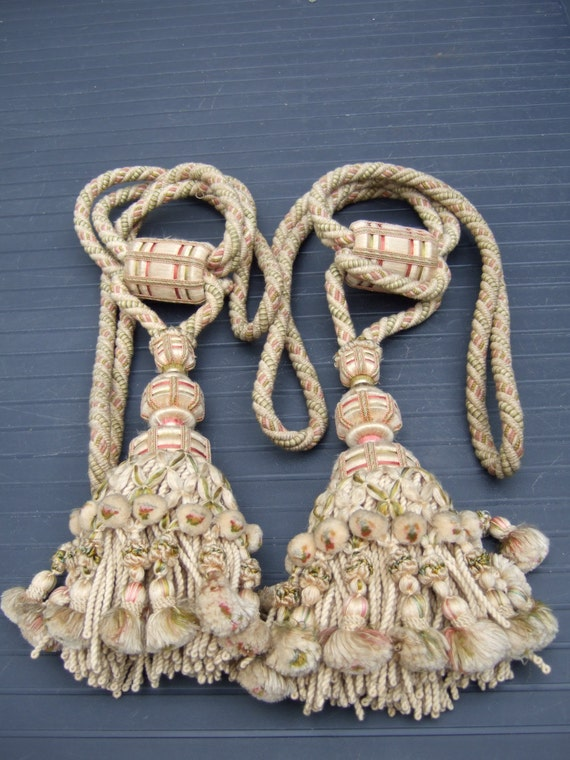 Antique French Tassels Tie Backs A Pair From The 1880s