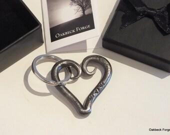 Heart Keyring - Mum- Blacksmith Hand Forged