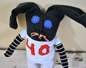 SALE! San Francisco Giants Baseball Player,#40, Bumgarner,  Sock Animal Bunny, Rag Doll, Made with all Reclaimed Clothing, Hand-Stitched