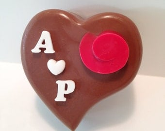 Personalized Chocolate Heart - Heart Shaped Valentine Chocolate