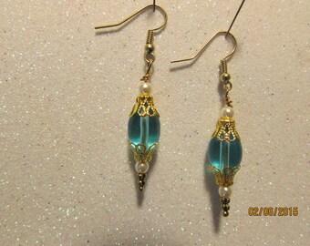 custom made glass bead earrings
