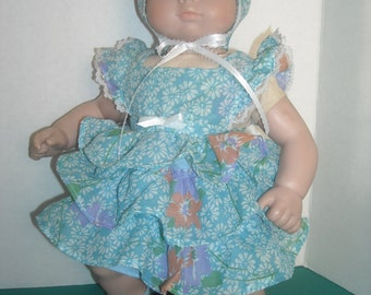 """Bitty Baby 15 to 16"""" Doll Blue Ruffled Party Dress and Accessories"""