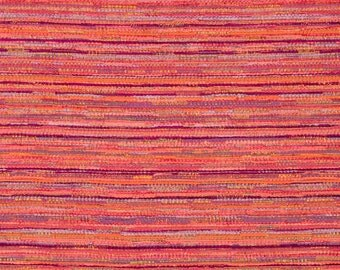 Coral Upholstery Fabric - Orange Tweed Fabric - Custom Pink Orange Pillows with Cording - Abstract Upholstery Fabric for Furniture