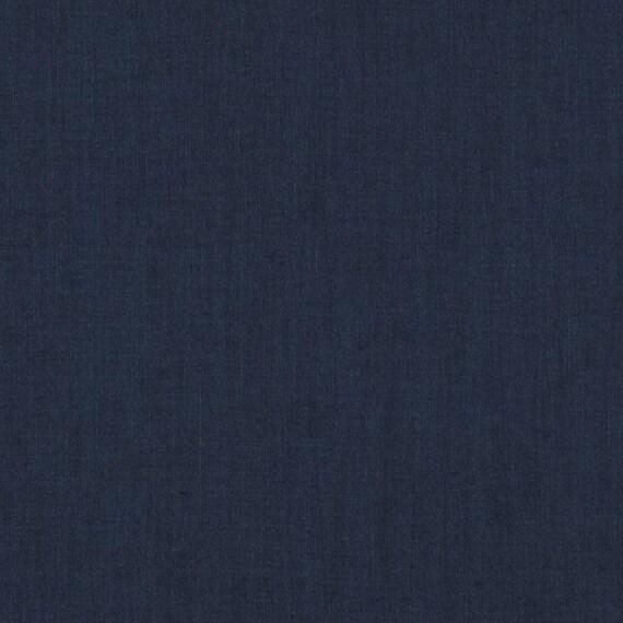 Navy Blue Linen Fabric Solid Navy Blue Linen Curtains Roman