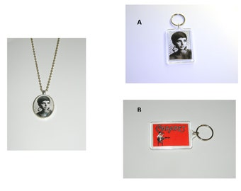 Liza Minnelli Keychain or Glass Pendant Necklace or set of 3