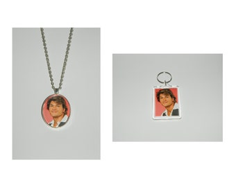 Patrick Swayze Glass Pendant Necklace and/ or Keychain