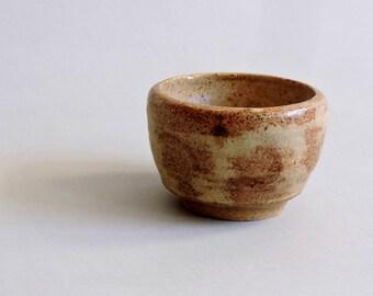 Vintage Studio Pottery. Mustard Pot. Jar. Signed EW.