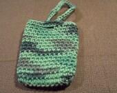 Soap saver  - Camouflage Soap pouch- Unique - USA grown cotton - Crochet soap pouch - Crochet soap pocket (KB20)