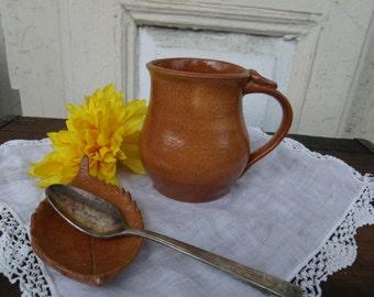 Medium Brown Ceramic Mug- Handmade