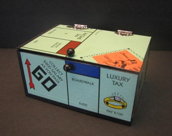 Mini Monopoly Game Board Keepsake Box