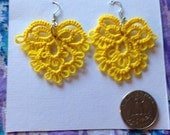 Tatted Yellow Statement Earrings