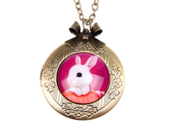 Necklace locket bunny