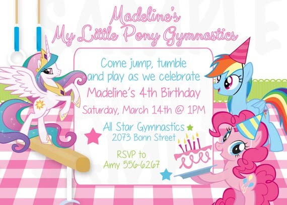 My Little Pony Inspired Gymnastic Tumbling Theme Birthday