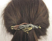 Greyhounds French Barrette 80mm- Hair Accessories- Hair Clip- Dog Rescue- Greyhound Jewelry