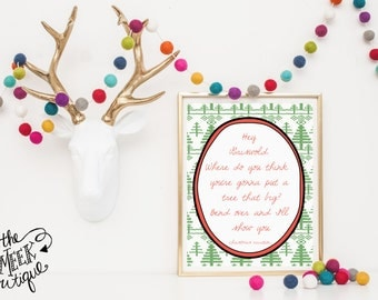 INSTANT DOWNLOAD, Christmas Vacation Quote Printable, No. 253-1