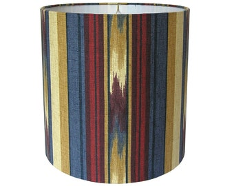 Lamp Shade Lampshade Pendant Ikat Stripe by Robert Allen at Home in Tabriz Made to Order