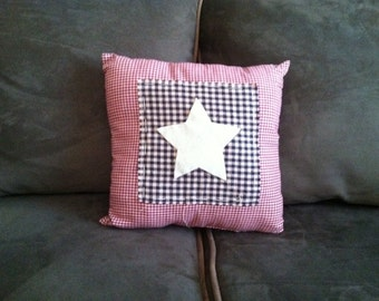 Handmade Americana/Patriotic Star Pillow
