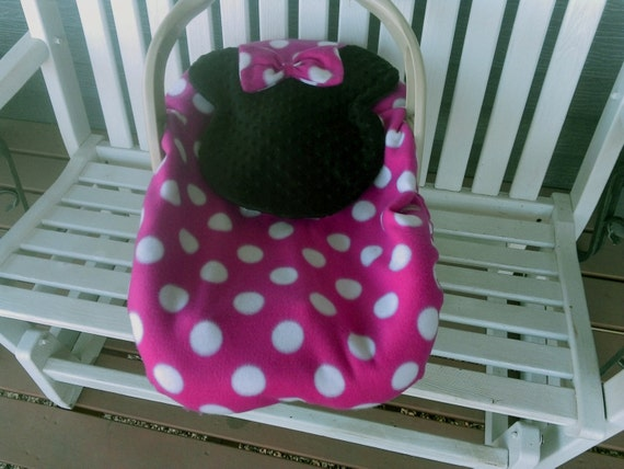 Minnie Mouse Baby Carrier Cover / Infant Car Seat Carrier
