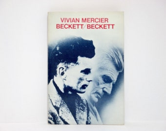 Beckett / Beckett by Vivian Mercier 1979 Vintage Literary Criticism Book on Samuel Beckett
